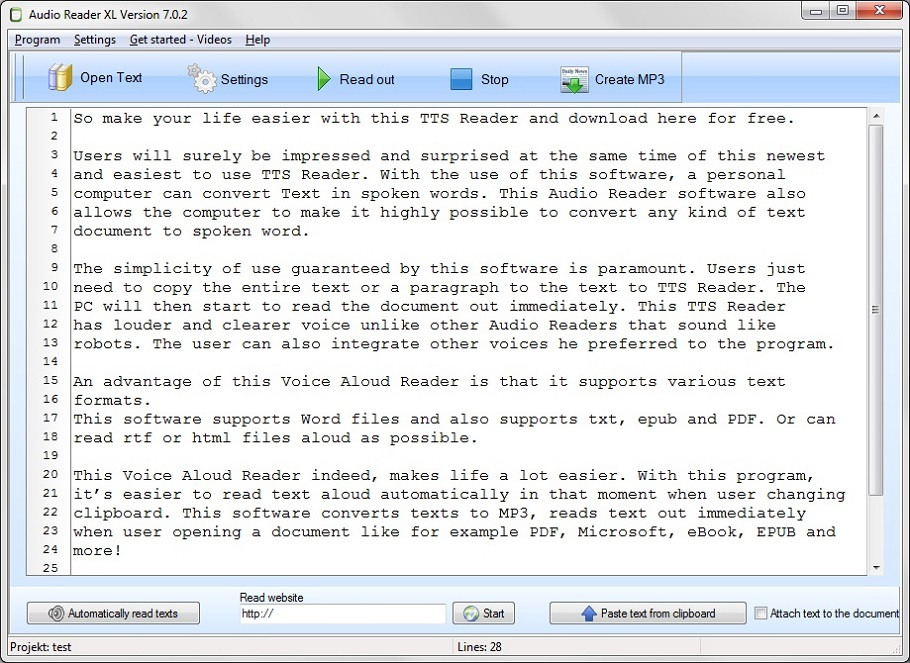 This is a easy text to speech software for Windows 10 with